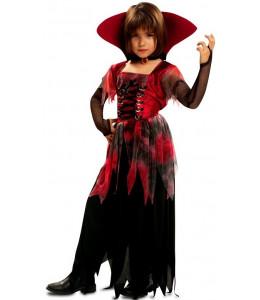 Disfraz de Vampiresa Gotica Roja Infantil