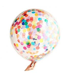 Globo con Confetti Multicolor 80cm