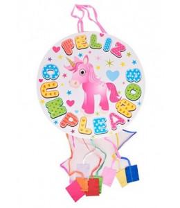 Piñata de Unicornio con Tiras