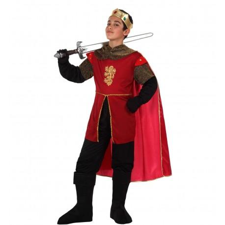 Disfraz de Rey Medieval Rojo Infantil
