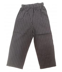 Pantalon Raya Gris Oscuro Infantil