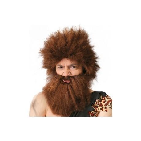 Peluca cavernicola con Barba