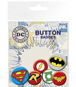 6 Chapas Logos DC Comics