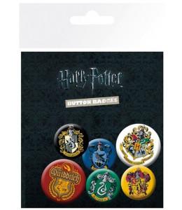 6 Chapas Escudos Harry Potter