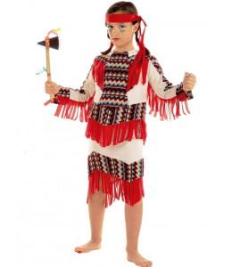 Disfraz de India Flecos Infantil.