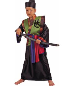 Disfraz de Samuray Negro Infantil.