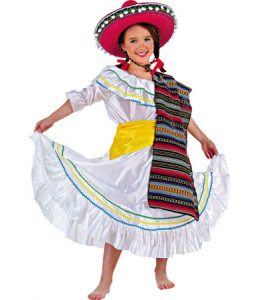 Disfraz de Mejicana Infantil.