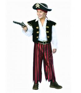 Disfraz de Pirata Rayas deluxe infantil