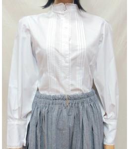 Camisa Casera Mujer con Puntillas Blanca