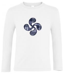 Camiseta Lauburu Blanca Niño Manga Larga