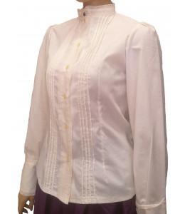 Camisa Casera Mujer con Puntillas Beige
