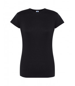 Camiseta Manga Corta Negra Mujer