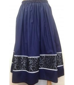 Falda Casera Azul Tablon Tricolor