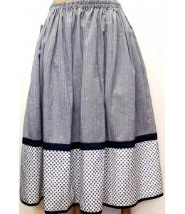 Falda Casera Azul Claro Puntos