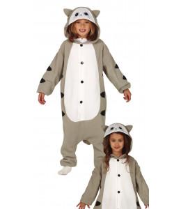 Disfraz de Gato Gris Pijama Infantil