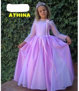 Disfraz de Princesa morada Athyna