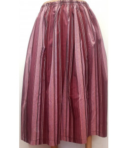 Falda Casera Granate de rayas