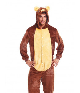 Disfraz de Oso Marron Pijama Peluche