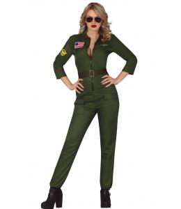 Disfraz de Aviadora Verde