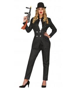 Disfraz de Gangster Traje Mujer