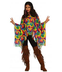 Disfraz de Hippie Mujer Poncho