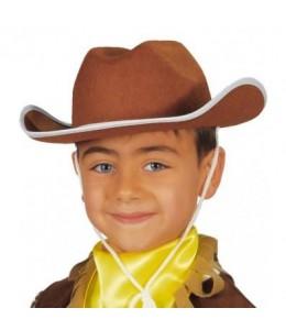 Sombrero Vaquero Marron Infantil
