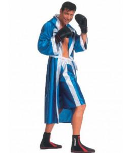 Disfraz de Boxeador Azul Hombre