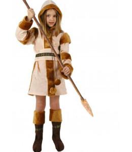 Disfraz de Esquimal Marron Niña