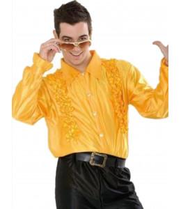 Camisa Disco Amarilla Hombre