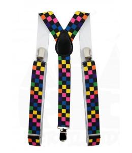 Tirantes de Cuadros Multicolor