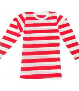 Camiseta de Rayas Roja y Blanca
