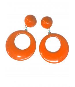 Pendientes de Aro Grandes Naranja