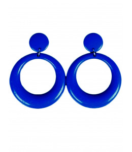 Pendientes de Aro Pequeño Azul