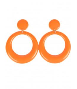 Pendientes de Aro Pequeño Naranja