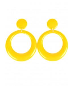Pendientes de Aro Pequeño Amarillo