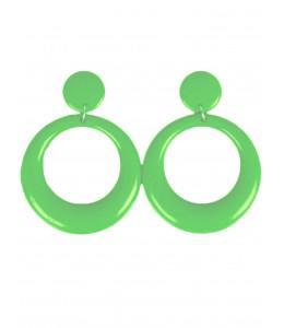 Pendientes de Aro Pequeños Verde Claro