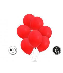 Bolsa de 100 Globor Rojos
