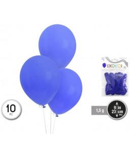 Bolsa con 10 Globos Azul Zafiro