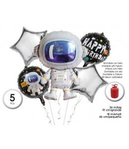 Bolsa de 5 Globos set Astronauta