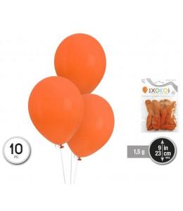 Bolsa con 10 Globos Naranjas