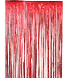 Cortina de Flecos Rojo 1x2m