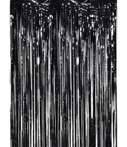 Cortina de Flecos Negro 1x2m