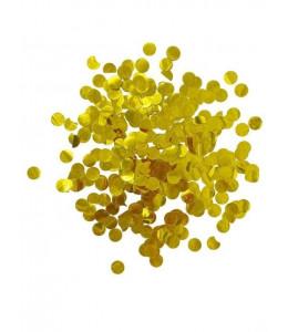 Confetti Metalizado Doradonde 1.50cm