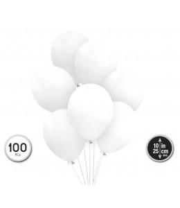 Bolsa con 100 Globos Blancos