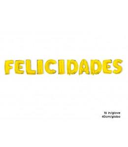 Globo Felicidades Dorado (letrero)