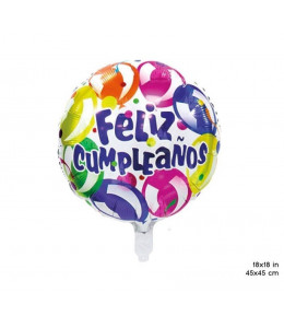 Globo Circular Feliz Cumpleaños