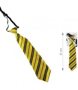 Corbata Colegial Amarilla y Negra