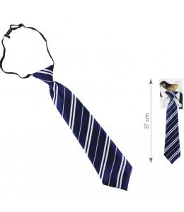 Corbata Colegial Azul y Blanca