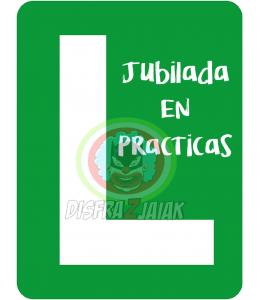 Vinilo Textil Jubilada en Practicas 23x23
