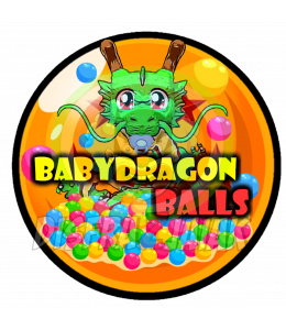 Vinilo Textil Baby Dragon Balls 15x15